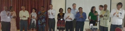 New steering group selected at the Kigali meeting, 2011